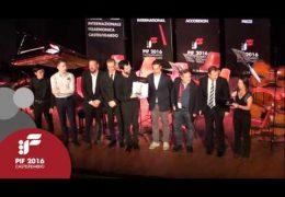 PIF2016   Sunday 25th   Premio Category award ceremony and performance by the winner José Valente